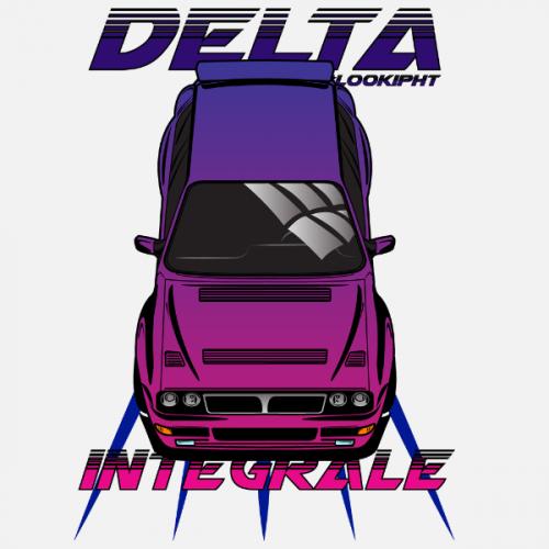 Pánské tričko s potiskem Lancia Delta Integrale by Looki