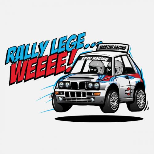 Pánské tričko s potiskem Lancia Delta Integrale Cartoon by Looki