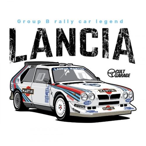 Dámské tričko s potiskem Lancia Delta Delta S4 Front 1