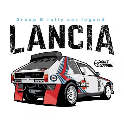 Dámské tričko s potiskem Lancia Delta S4 Back 1