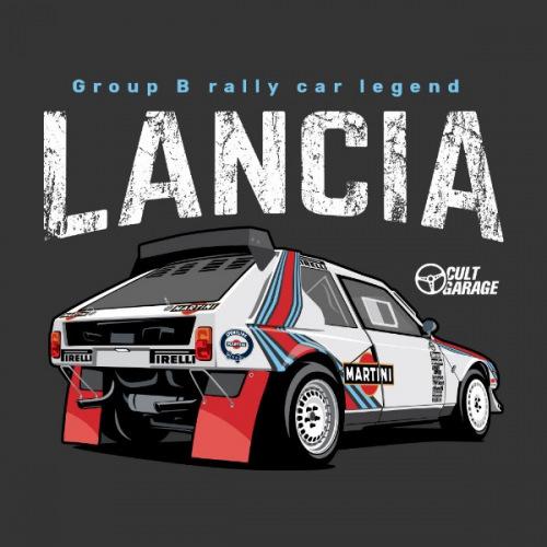 Dámské tričko s potiskem Lancia  Delta S4 Back 2