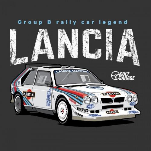 Dámské tričko s potiskem Lancia Delta S4 Front 2