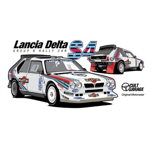 Dámské tričko s potiskem Lancia Delta S4 Twins 1