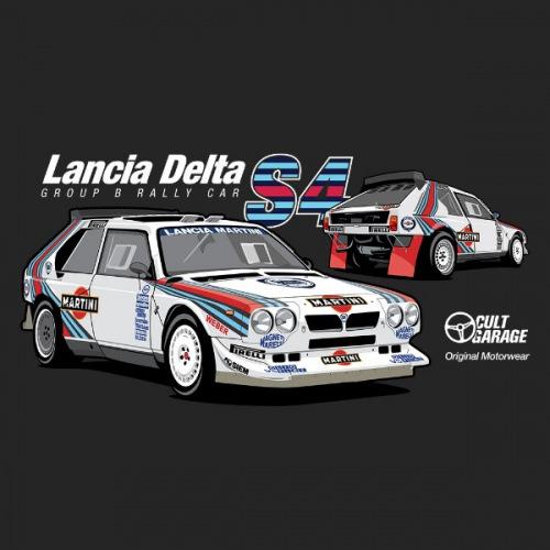 Pánské tričko s potiskem Lancia Delta S4 Twins 2