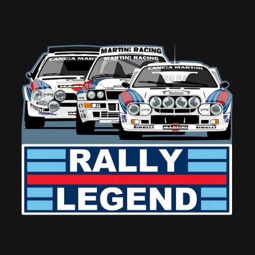 Dámské tričko s potiskem Lancia rally legends