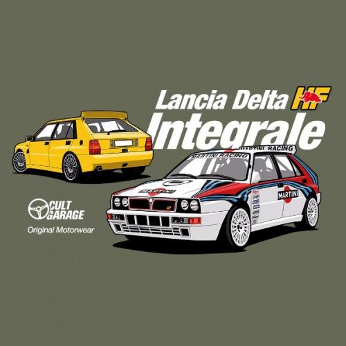 Dámské tričko s potiskem Lancia Delta Integrale 2