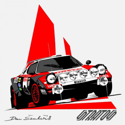 Dámské tričko s potiskem Lancia Stratos Pirelli