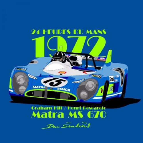 Dámské tričko s potiskem Matra MS 670