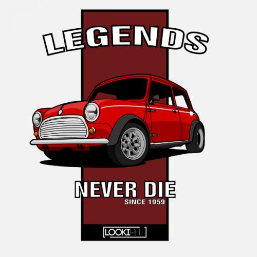 Dámské tričko s potiskem Mini Cooper Classic Red