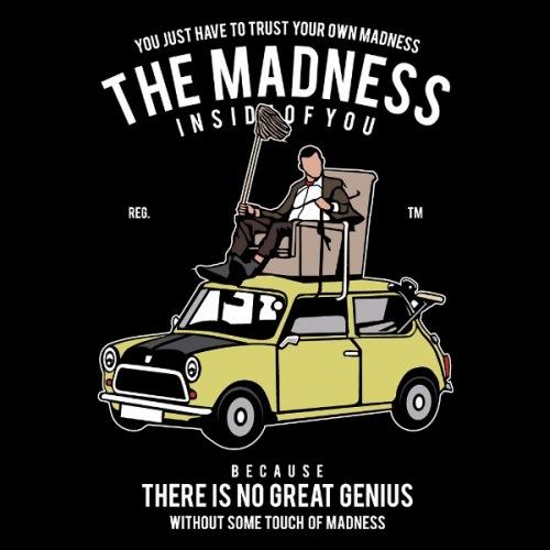 Dámské tričko s potiskem Mini Cooper: Madness Bean