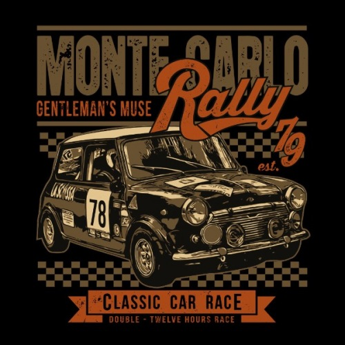 Pánské tričko s potiskem Mini Cooper: Monte Carlo Rally