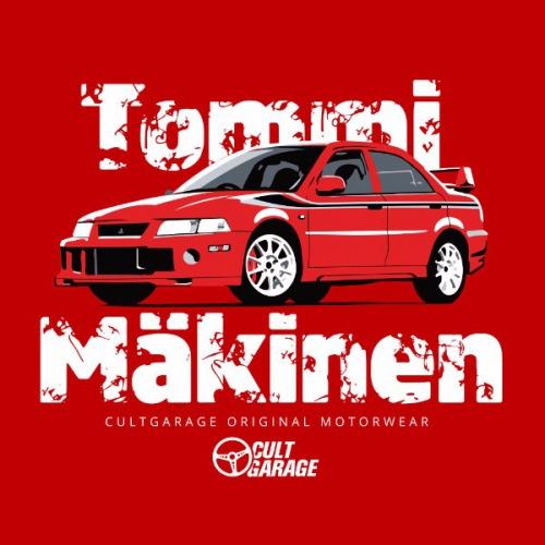 Dámské tričko s potiskem Mitsubishi Lancer Evo 6: Tommi Mäkinen
