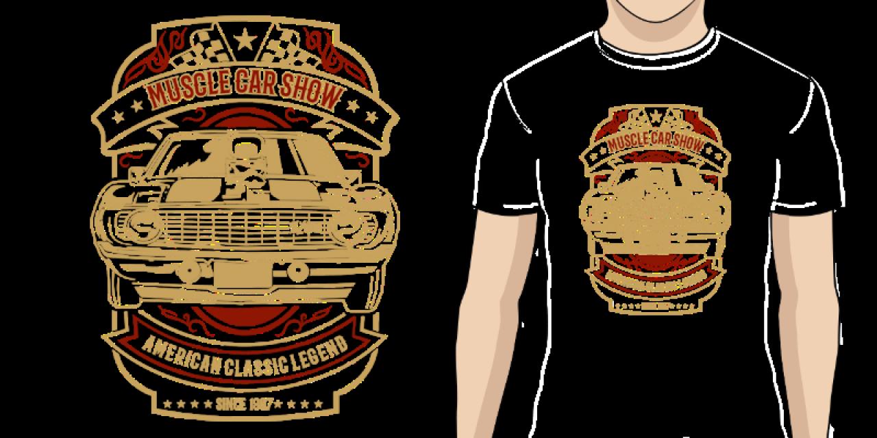 fab22dea34a9 Pánské tričko s potiskem Muscle Car
