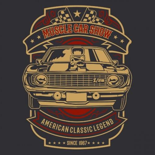 Dámské tričko s potiskem Muscle Car