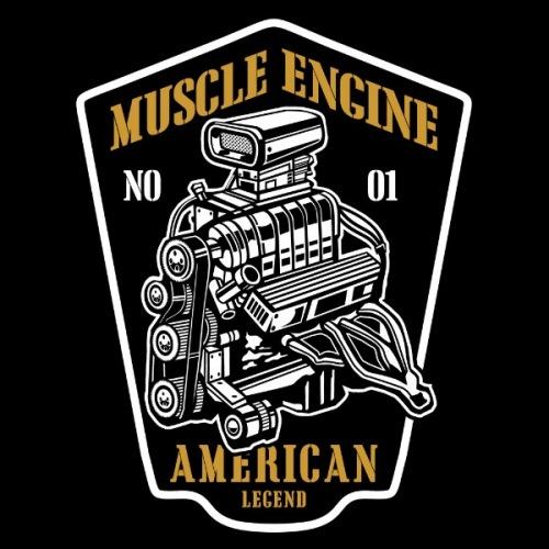 Pánské tričko s potiskem Muscle Engine