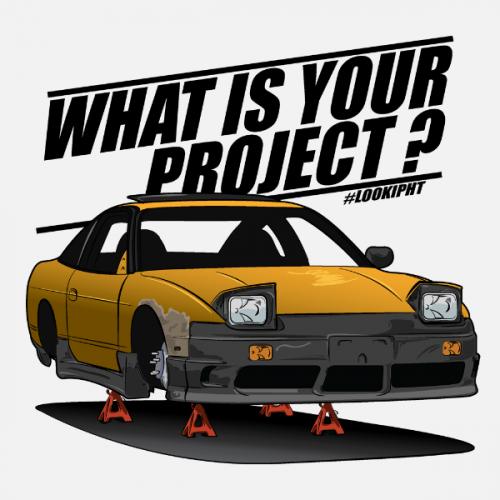 Pánské tričko s potiskem Nissan S13 Project by Looki