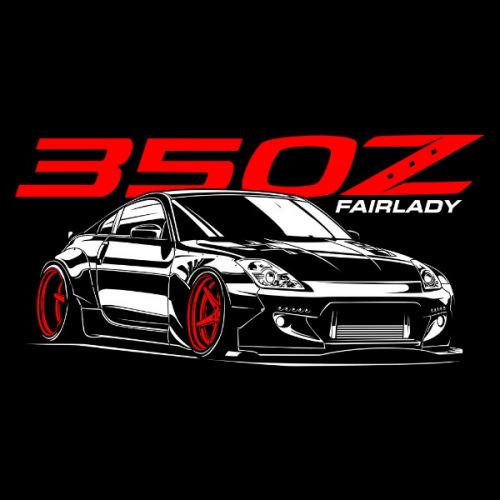 Dámské tričko s potiskem Nissan 350Z