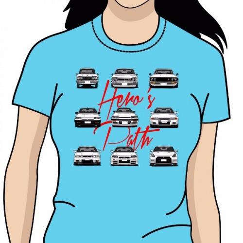 Dámské tričko s potiskem Nissan Skyline  Heros Path bc0d77b05e0