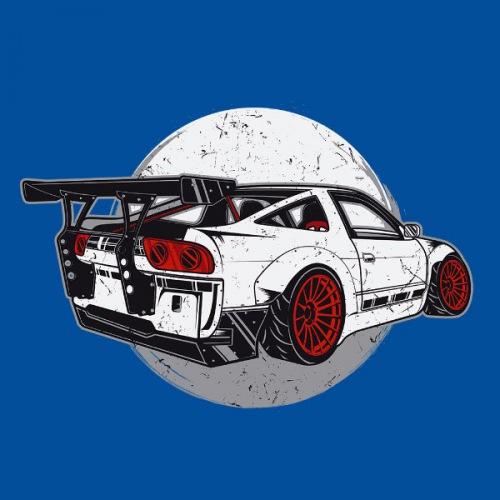 Dámské tričko s potiskem Nissan 240SX Drift