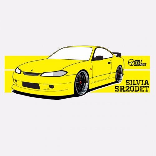 Dámské tričko s potiskem Nissan Silvia S15 SR20DET
