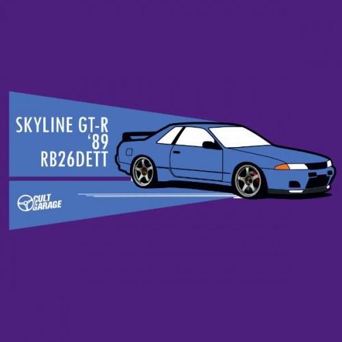 Dámské tričko s potiskem Nissan Skyline RB26DETT