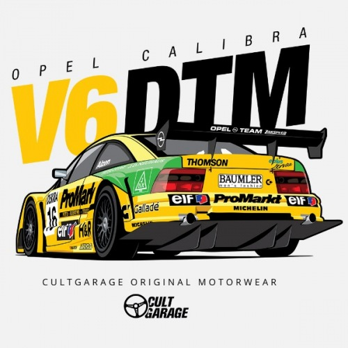 Dámské tričko s potiskem Opel Calibra V6 DTM 1
