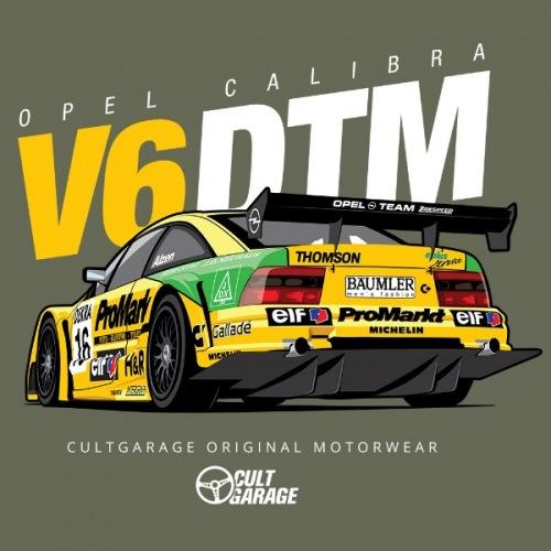Dámské tričko s potiskem Opel Calibra V6 DTM 2