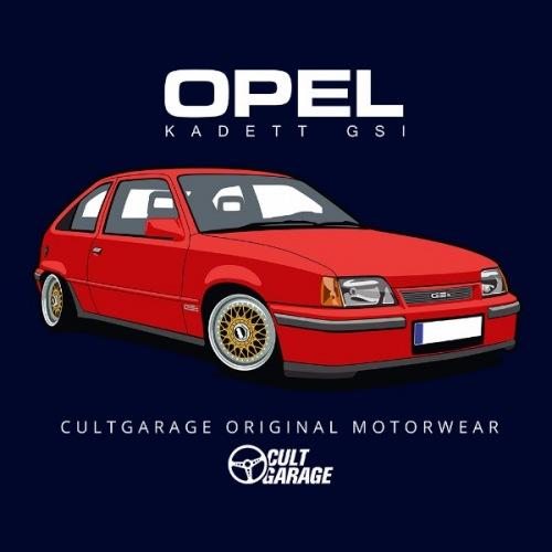 Dámské tričko s potiskem Opel Kadett GSI Červený 2
