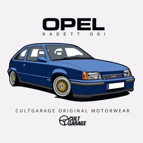 Dámské tričko s potiskem Opel Kadett GSI Modrý 1