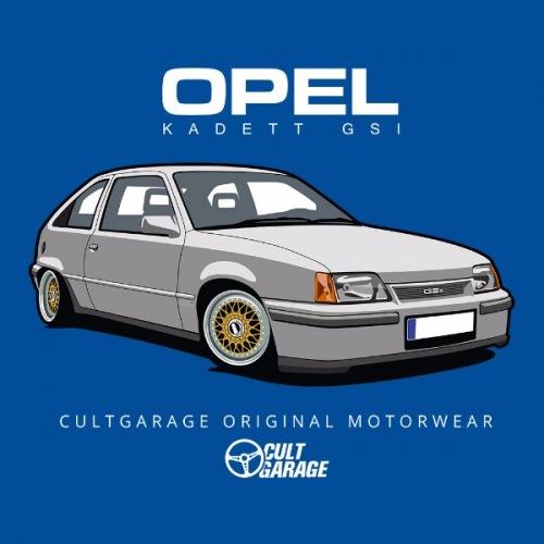 Pánské tričko s potiskem Opel Kadett GSI Stříbrný 2