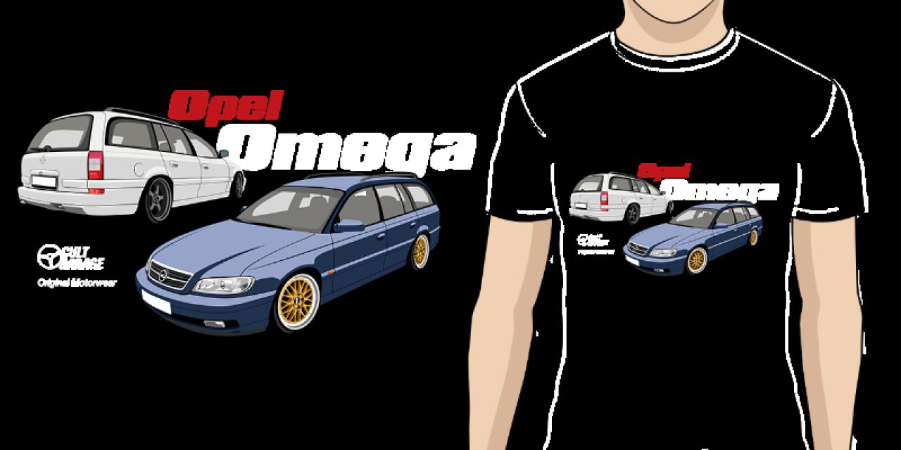 8e6dd82aa18 Pánské tričko s potiskem Opel Omega B2  2