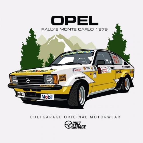 Dámské tričko s potiskem Opel Kadett GT/E Rally 1