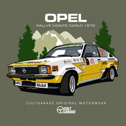 Dámské tričko s potiskem Opel Kadett GT/E Rally 2