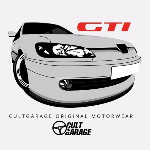 Dámské tričko s potiskem Peugeot 306 GTi Bílý