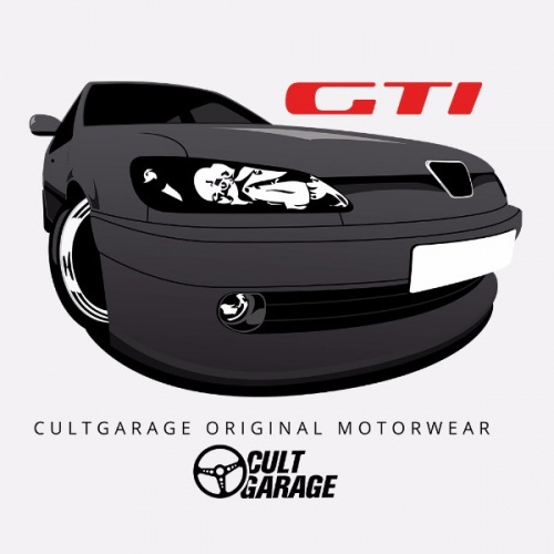 Pánské tričko s potiskem Peugeot 306 GTi Černý