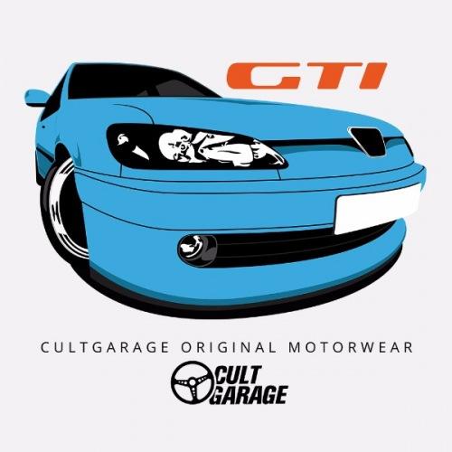 Dámské tričko s potiskem Peugeot 306 GTi Modrý