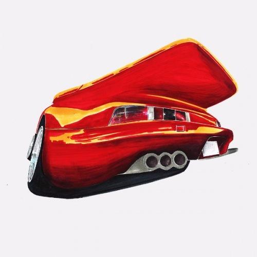 Dámské tričko s potiskem Porsche Gemballa