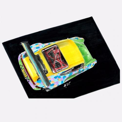 Pánské tričko s potiskem Porsche Luftechnik