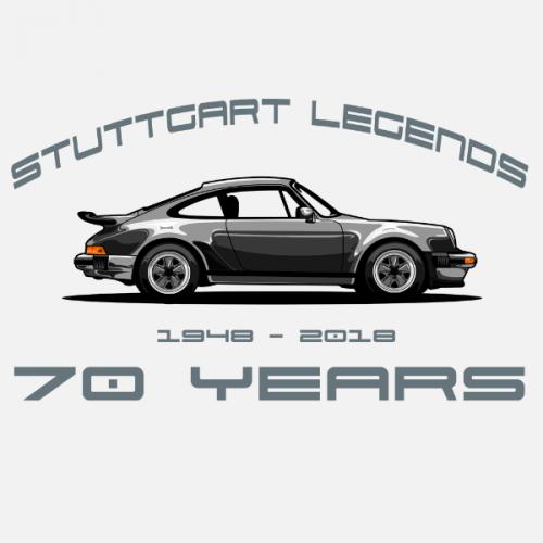 Dámské tričko s potiskem Porsche 911 Stuttgart Legends