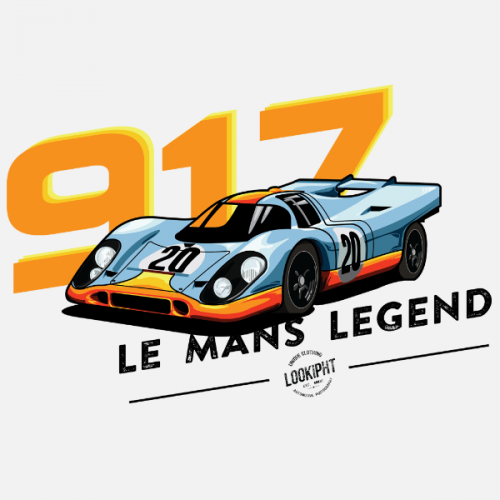 Dámské tričko s potiskem Porsche 917 Le Mans