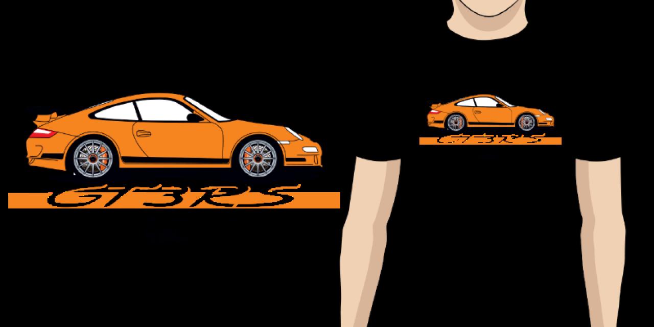 Pánské tričko s potiskem Porsche GT3 RS e7192fbe495