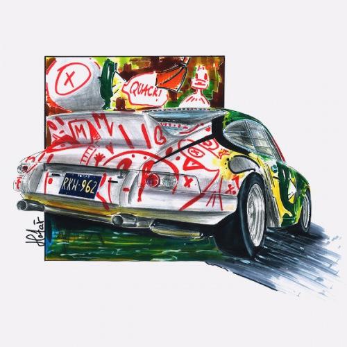 Dámské tričko s potiskem Porsche 911: Duck Theme