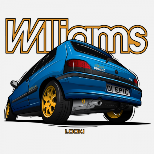 Dámské tričko s potiskem Renault Clio Williams by Looki