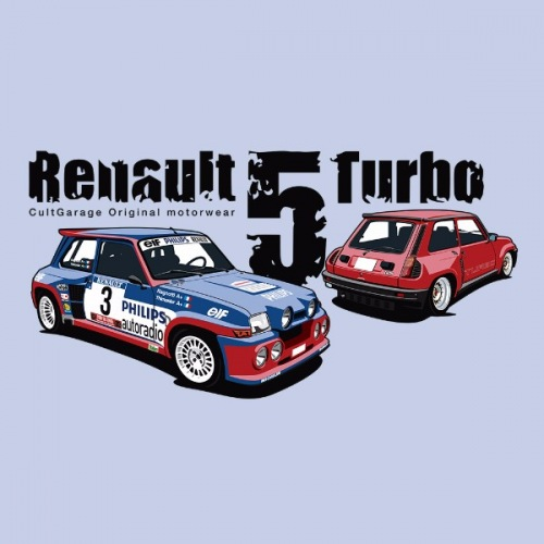 Pánské tričko s potiskem Renault 5 Turbo 1