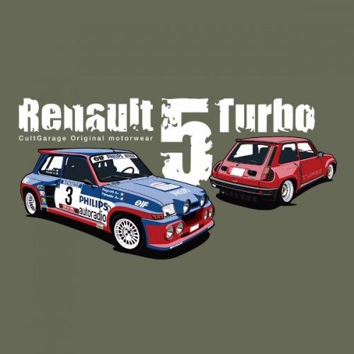 Dámské tričko s potiskem Renault 5 Turbo 2