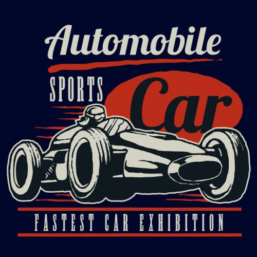 Women´s t-shirt Retro Sport Car