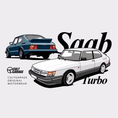 Dámské tričko s potiskem Saab 900 Turbo 1