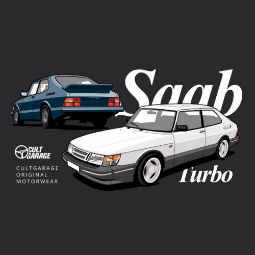 Dámské tričko s potiskem Saab 900 Turbo 2