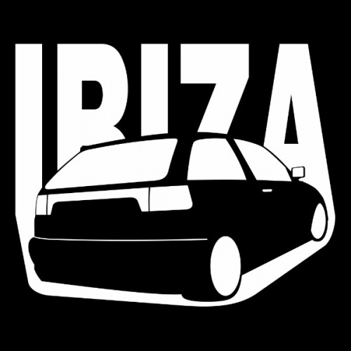 Pánské tričko s potiskem Seat Ibiza 6K1 bílá