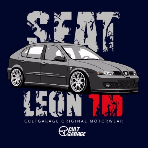 Pánské tričko s potiskem Seat Leon 1M Černý 2